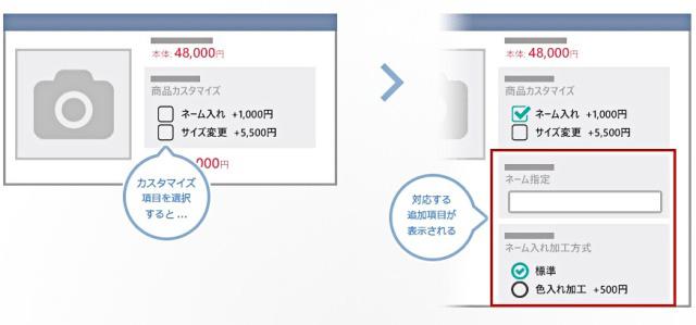 ネットショップ作成サービスイージーマイショップ 条件付きカスタマイズ