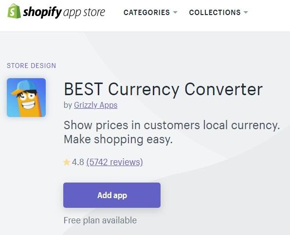 ネットショップ作成サービス Shopify 通貨変換アプリ BEST Currency Converter