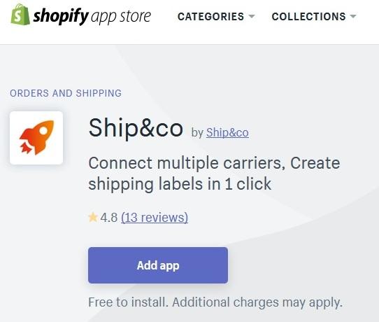ネットショップ作成サービス Shopify 配送アプリShip&co