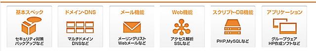 レンタルサーバーWebARENA SuiteX機能