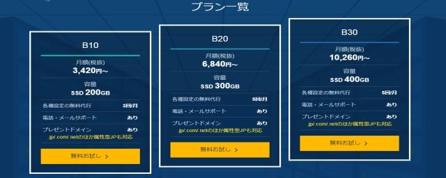 レンタルサーバー エックスサーバービジネス価格表